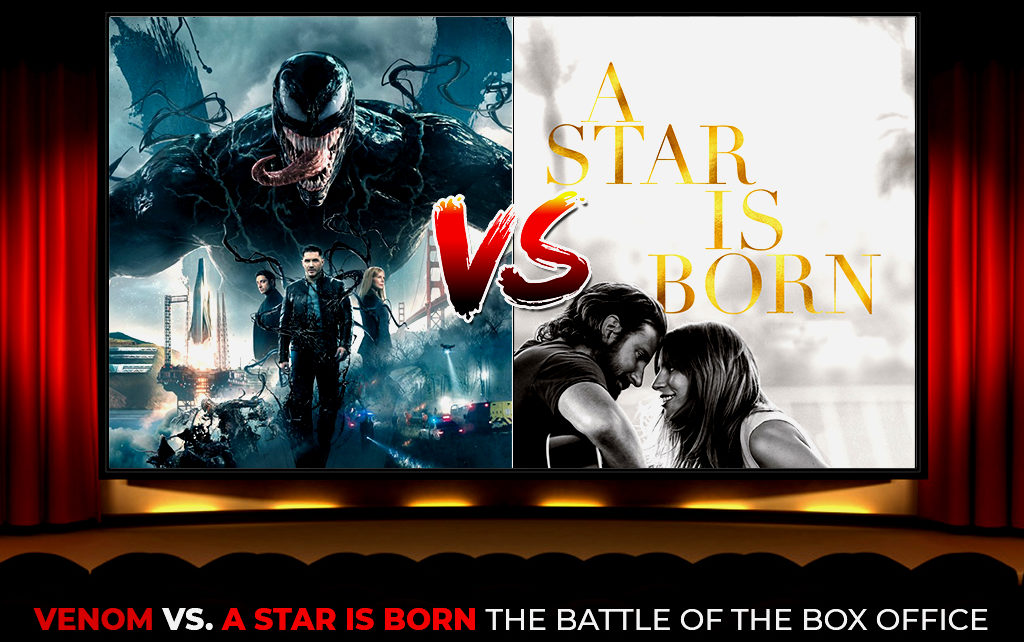 VENOM'' VS ''A STAR IS BORN''- THE BATTLE OF THE BOX OFFICE